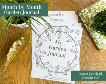 Monthly Garden Journal - Printable PDF - Perfect for Flower Gardens, including Pollinator, Wildlife and Native Plant Gardens.