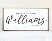 Personalized Couple Names Sign, Couple Name Wood Sign, Wedding Gift Idea, Anniversary Gift Idea, Custom Names Board, Couple Gifts