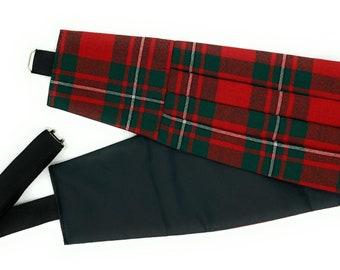 Gents Pure Wool MacGregor Modern Tartan  Cummerbund - Made in Scotland