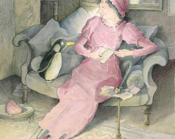 "It's ""Twitter"" Mr Darcy said Miss Austen - Fine Art Print"