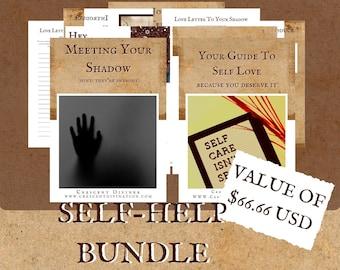 Shadow Work & Self Love Workbook Bundle | Shadow Work Worksheets | Shadow Work ebook | Shadow Work Journal | Self Love | Spiritual Guidance