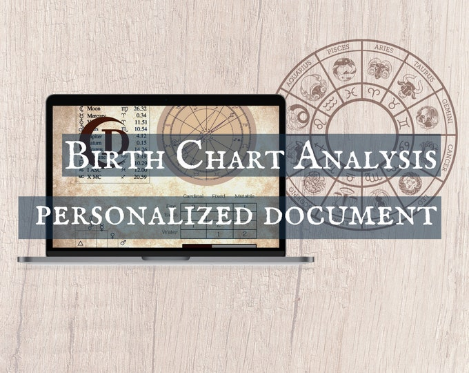 Featured listing image: Birth Chart Analysis - Digital   Astrology Chart Reading, Zodiac Meaning, Sun Moon Rising
