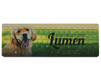 Personalized Full Color Keyboard - Printed in WA, USA - Fast Ship