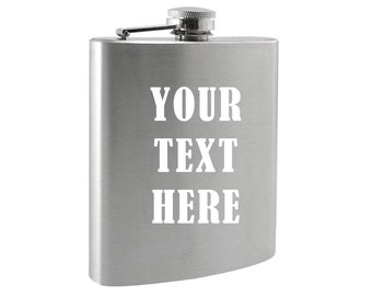 Personalized Stainless Steel Flask – Decorated in WA, USA  Groom, Groomsmen, Guys Trip