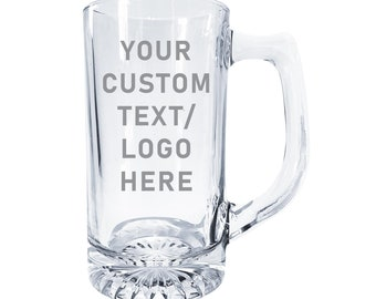 Personalized Heavy Weight Beer Stein Mug - Made in USA  Groom, Groomsmen, Guys Trip , Home Bar
