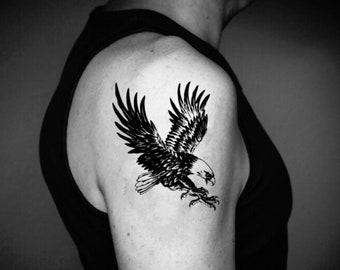 Eagle Temporary Fake Tattoo Sticker (Set of 2)