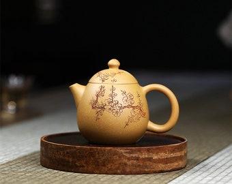 YIXING TEAPOT VINTAGE|Handmade Ceramic Teapot|plum blossom