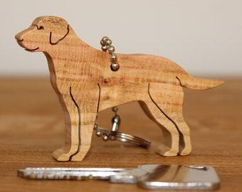 Handmade wooden Labrador Keychain/Keyring