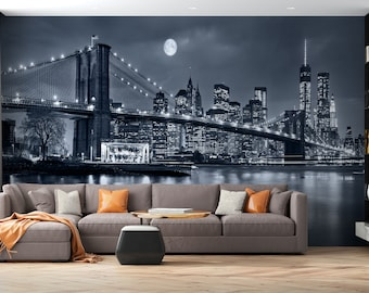 New York Wallpaper Etsy