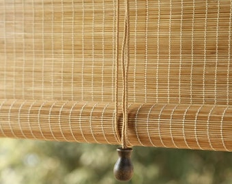 Natural bamboo blinds, roller blinds, curtains, bamboo blinds, sunshades, bamboo shades, balconies, Zen, Japanese style,pattern,customizable