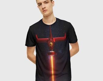 Tagless Classic Fit Crewneck Adult Unisex 100/% Cotton T-Shirt Cowboy Bebop Spike Swordfish II Silhouette