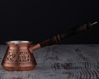 Oriental coffee pot Kitchen decor Copper pot turkish coffee FREE DELIVERY Vintage copper coffee pot