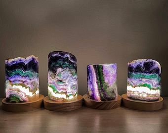 Rainbow Fluorite Crystal Lamp | Lamp Room Decor | Home Decor | Crystal Healing | Gift