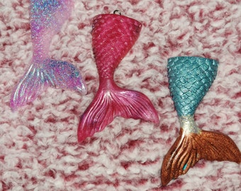 blue metallic fish scales spandex Mermaid tail and top set for Barbie