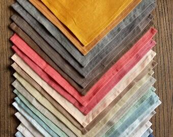 Linen Napkins. Cloth Napkins set. Dinner. Cocktail. Wedding napkins. Linen. Natural. Eco. All colours.