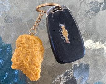 chicken nugget keychain