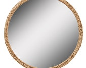 Hiltz Twisted Natural Woven Framed Wall Mirror