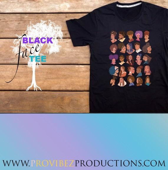 BLACK Face Black Tee