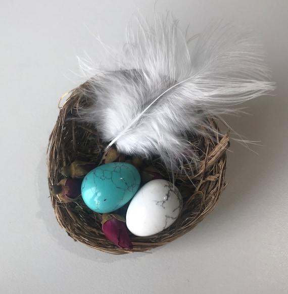 Nest and Semi-Precious Stone Egg