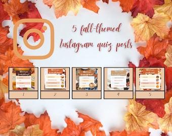 5 Fall Favorites Instagram Quiz Posts
