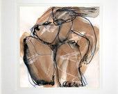 Grazien am Strand - Original drawing by Ulrich Rastetter