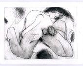 Ulrich Rastetter - Grazie - Original etching