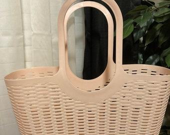 Plastic Tote Bag! (Pink or Grey)