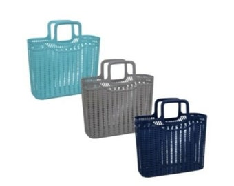 Plastic Tote bags! Turquoise, Grey, & Navy Blue!