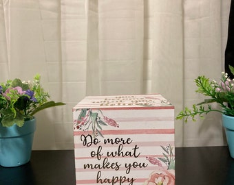 Inspirational Quote Cube Decoration!