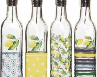 Lemons and Leaves 17-Oz Oil or Vinegar Bottle