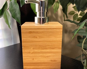 Wooden Soap or Lotion Dispenser with soap holder!