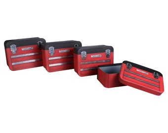Red Tool Box Designed Cardboard box Sets with lids!
