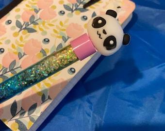 Pink Panda and Unicorn Designed Glitter filled Pens!