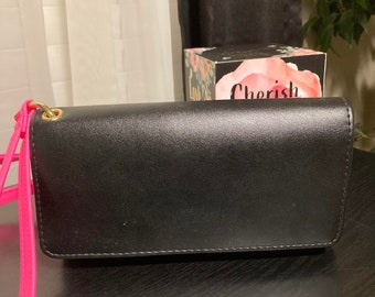 Black and Pink Credit Card and Coin Wallet!