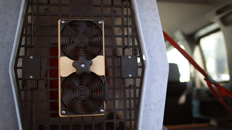 AirFlow Dually  Dog Crate Fans image 0