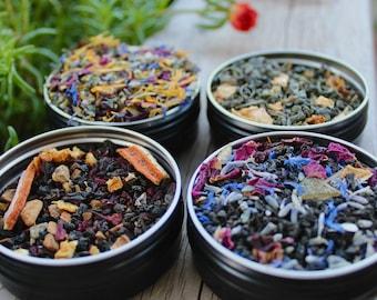 Individual Tea Sample, Single 1 oz Tea Sample, Queen Mab's Dream Tea, Fae Grey Tea, Cailleach's Cauldron Tea, Loose Leaf Tea, Herbal Tea