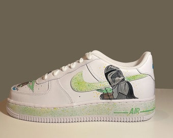 hand-painted shoes / personalized shoes / custom shoes / NikeAirForceOne