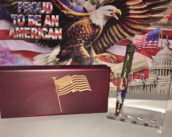 US Constitution Pens with Flag Box