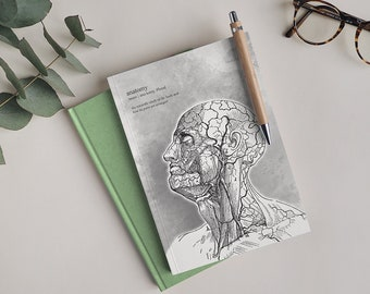 A5 | | Notebook Definition of anatomy | 144 pages of natural paper (!) | scored | Gift for Medical Students | Start of studies | Vintage