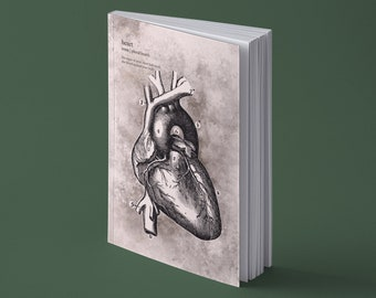 A5 | | Notebook Human heart | 144 pages (!) Natural paper | scored | A great gift for medical students | Vintage