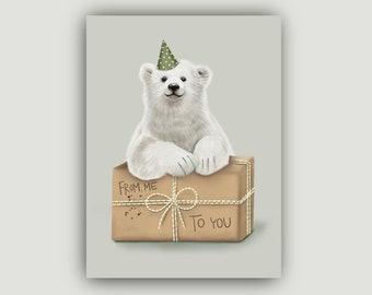 Birthday card | Polar bear | Greeting card | Folding card | Gift | A6 | 260 g