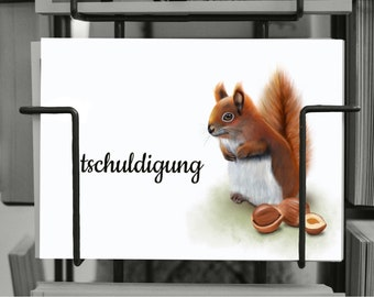 | postcard A6 | 260g | Squirrel | | sorry | Sorry | I'm sorry | Birthday forgotten | Forgive me