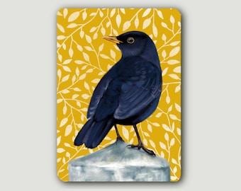 Postcard Blackbird | A6 | rounded corners | 300 g | Songbird