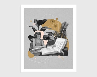 """Art Print - Vintage Collage """"How to Dismantle the Patriarchy""""   Feminist art, surreal art, retro art, wall decor, women poster, feminism"""