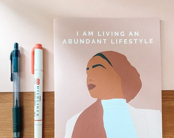 I am Living an Abundant Lifestyle | Handmade A5 Notebook