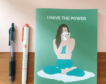 Power to Create Change | Handmade A5 Notebook
