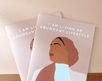 A5 Handmade Notebook Pack | I am Living an Abundant Lifestyle