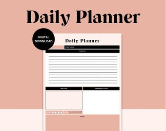 A4 Daily Planner / Printable Planner / Digital Download