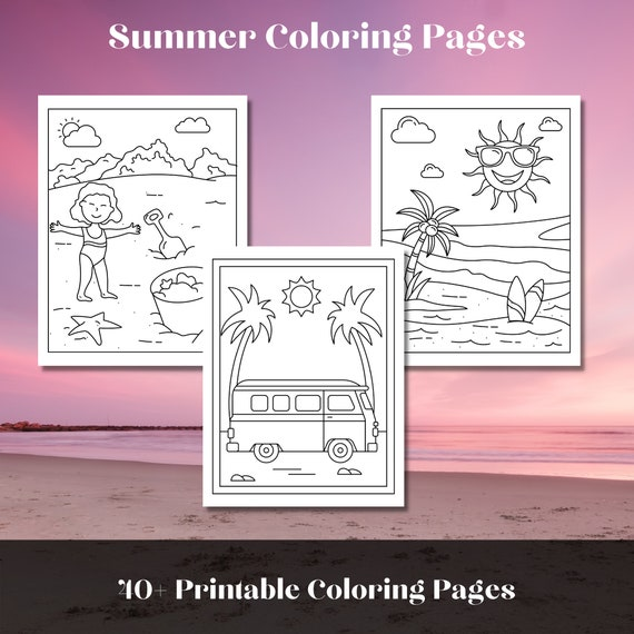 Summer Coloring Pages 48 Printable Summer Holiday Coloring
