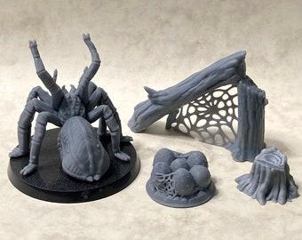 Giant spider lair terrain piece